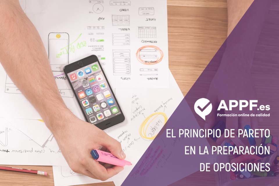 principio de pareto preparacion oposiciones con APPF