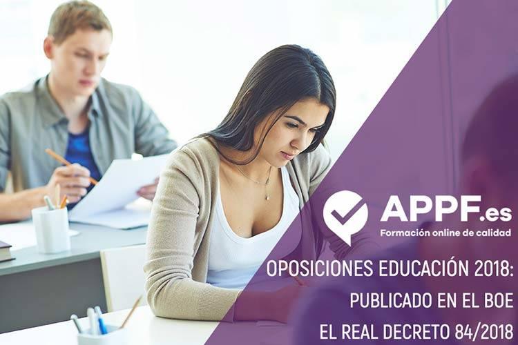 Oposiciones 2018 educación