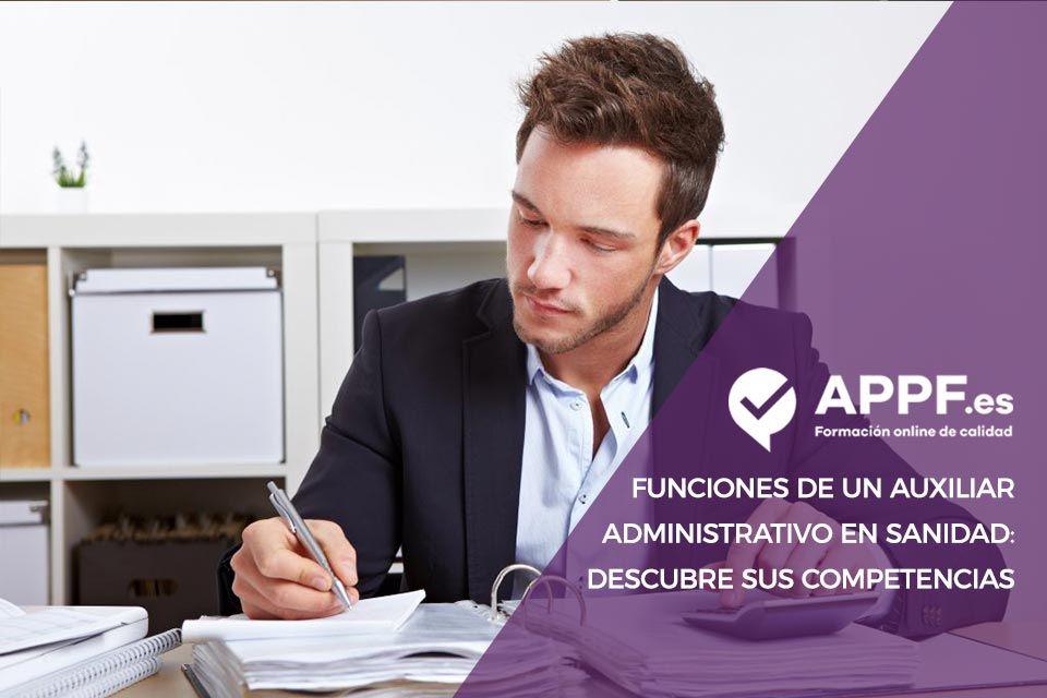 funciones auxiliar administrativo sanidad