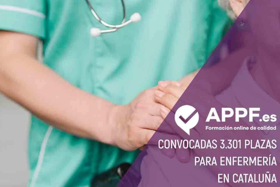 Convocadas 3.301 plazas para enfermería en Cataluña