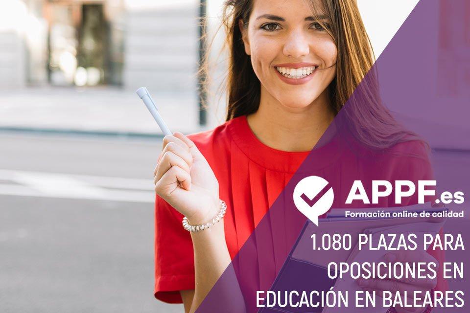 1.080 plazas para oposiciones en educación en Baleares