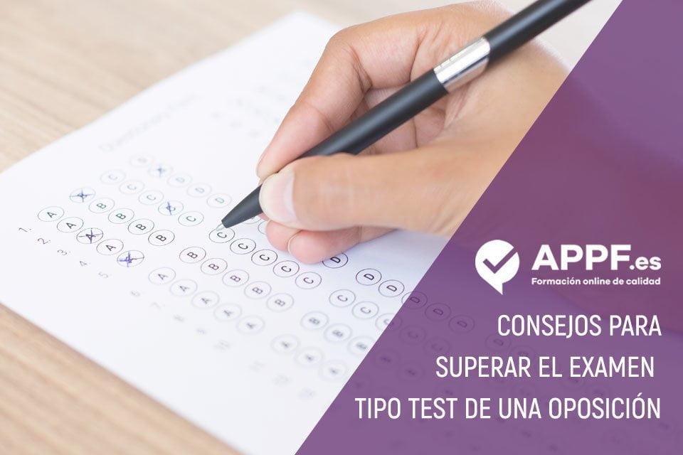Consejos para superar el examen tipo test de una oposición