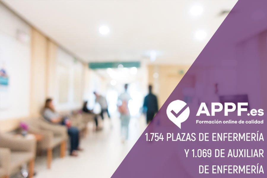 1.754 plazas de enfermería y 1.069 de Auxiliar de Enfermería