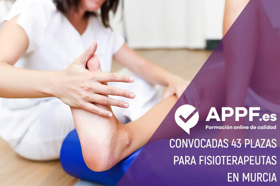 Convocadas 43 plazas para Fisioterapeutas en Murcia