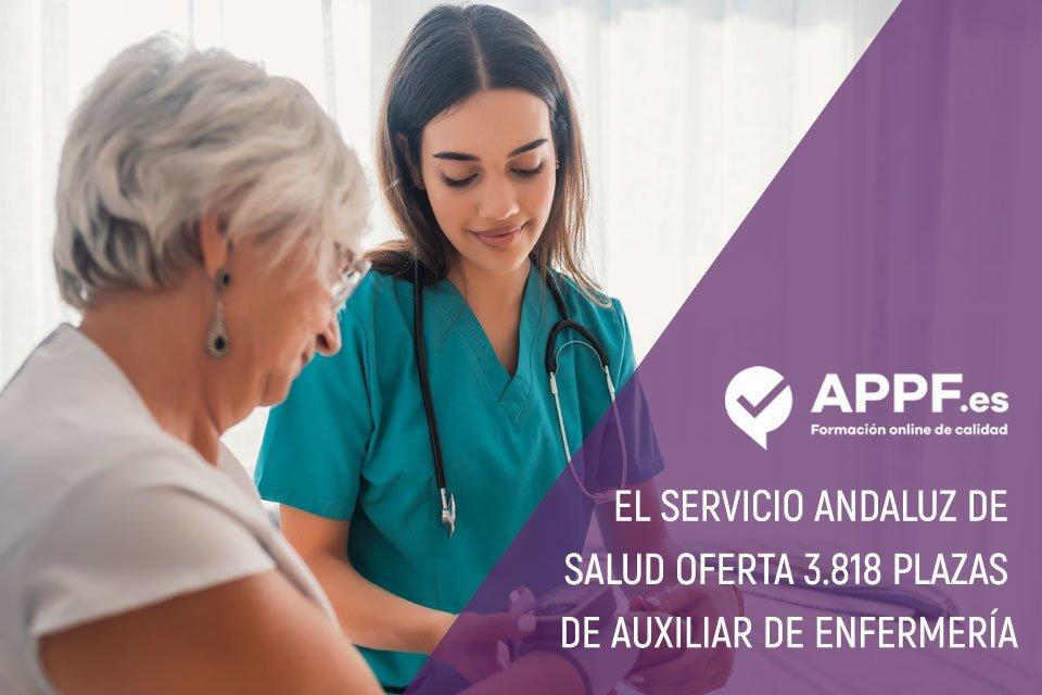 El servicio andaluz de salud oferta plazas de auxiliar de enfermeria