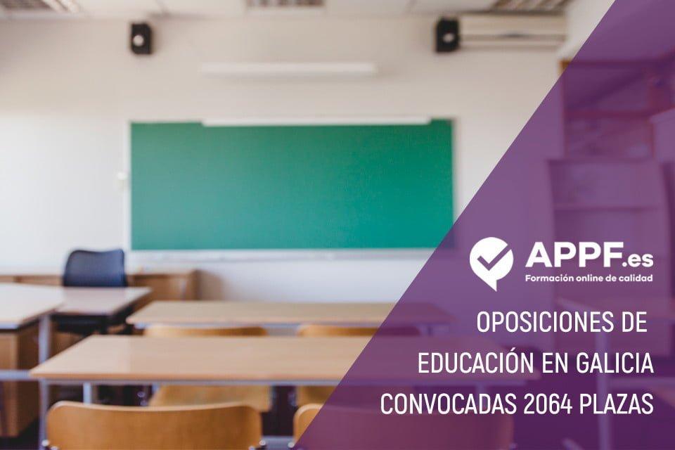 La Xunta de Galicia convoca 2064 plazas para Educación