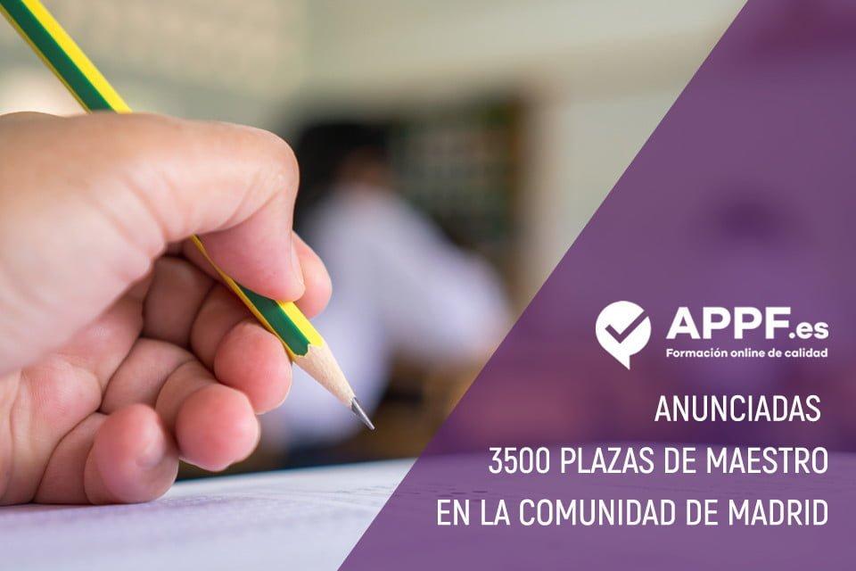 3500 plazas de maestro en la Comunidad de Madrid