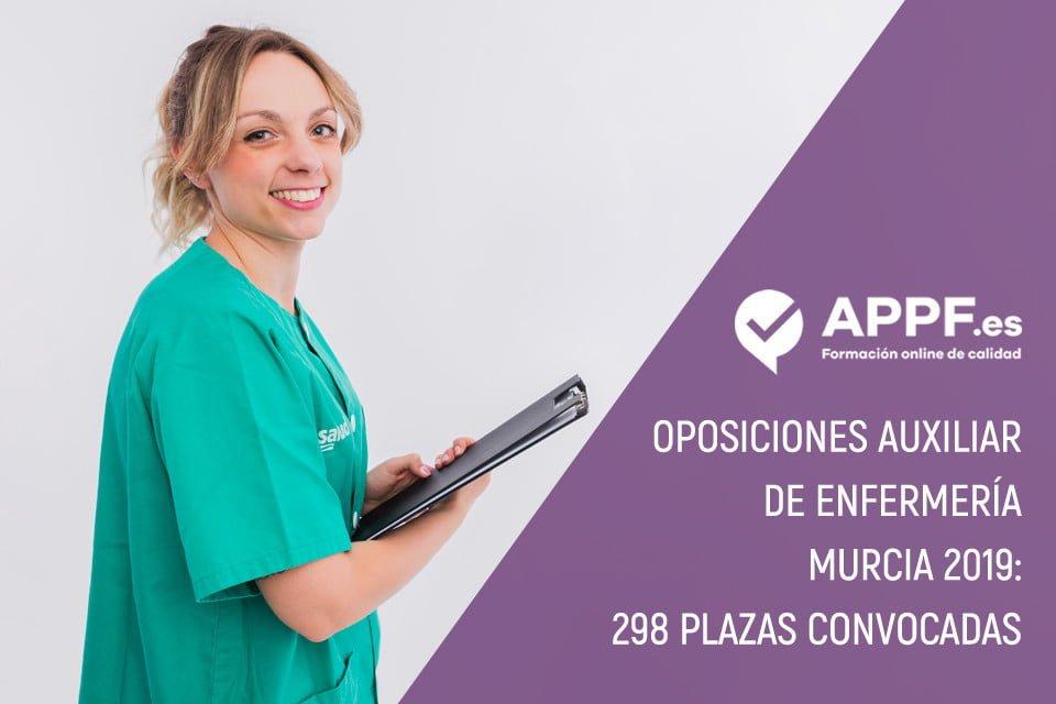 Oposiciones auxiliar de enfermería Murcia 2019 | 298 plazas