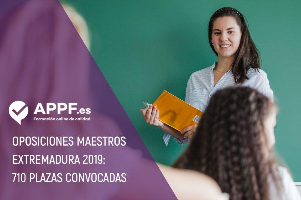 Oposiciones maestros Extremadura 2019 | Ya convocadas 710 plazas