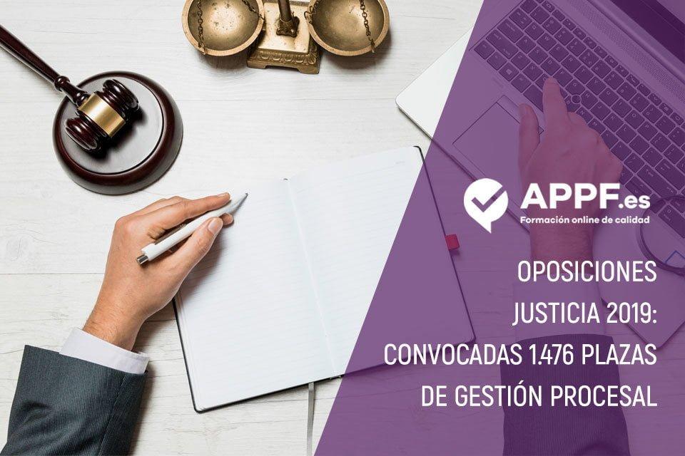 Oposiciones Justicia 2019: convocadas 1.476 plazas de Gestión Procesal